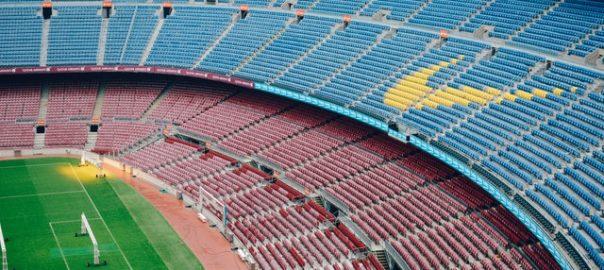 Empty stadium