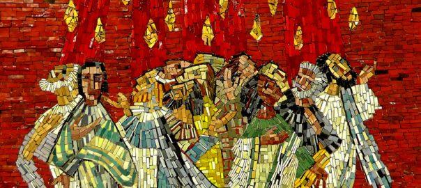 mosaic, image, art, Pentecost